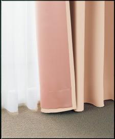 通常の裏地付カーテン