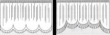 左:スカラップW型 右:スカラップS型